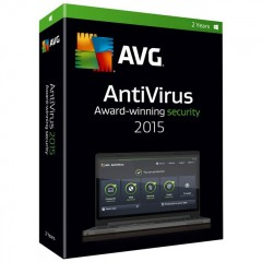 AVG Antivirus 2015 Home Edition - 3 PC | 2 Years License