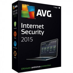 AVG Internet Security 2015 Home Edition - 2 PC | 1 Year License