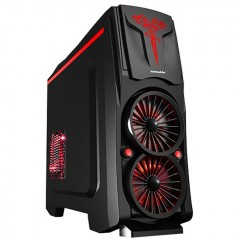 Simbadda SIM Cool SMC-05 Mid Tower PC Gaming Case - 480W PSU (Black)