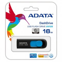 ADATA DashDrive UV128 16GB - USB 3.0 Capless Flash Drive