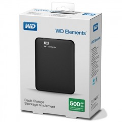 WD Elements 2.5 Inch 500GB - USB 3.0 Portable Eksternal Hard Drive