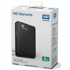 WD Elements 2.5 Inch 1TB - USB 3.0 Portable Eksternal Hard Drive
