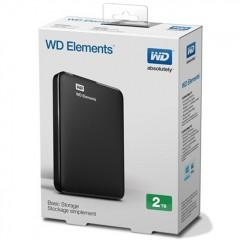 WD Elements 2.5 Inch 2TB - USB 3.0 Portable Eksternal Hard Drive