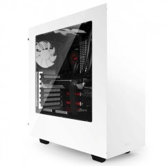 NZXT S340 Mid Tower PC Gaming Case - No PSU (White)