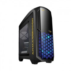 Armaggeddon Microtron T2Z Mid Tower PC Gaming Case - No PSU (Black)