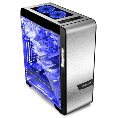Segotep Eos Silver MiddleTower PC Gaming Case - No PSU (Silver)