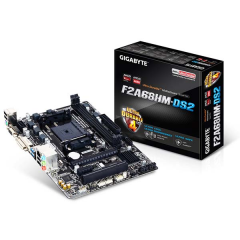 Gigabyte M-ATX Motherboard GA-F2A68HM-DS2 FM2+ (DDR3, SATA3, USB3)