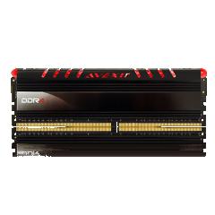 Avexir Core Red LED Memory 4GB Single Channel DDR4 PC RAM (AVD4UZ124001604G-1COR)