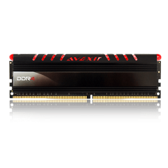 Avexir Core Red LED Memory 16GB Single Channel DDR4 PC RAM (AVD4UZ124001616G-1COR)