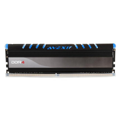 Avexir Core Blue LED Memory 16GB Single Channel DDR4 PC RAM (AVD4UZ124001616G-1COB)