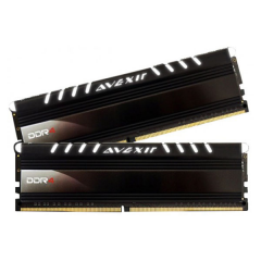 Avexir Core White LED Memory Kit 8GB Dual Channel DDR4 PC RAM (AVD4UZ124001604G-2COW)