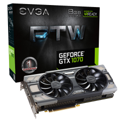 EVGA NVidia GeForce GTX 1070 FTW Gaming 8GB DDR5 PCI-E VGA Card