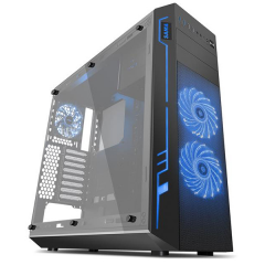 SAMA The ARK Full Tower RGB PC Gaming Case - No PSU (Black)