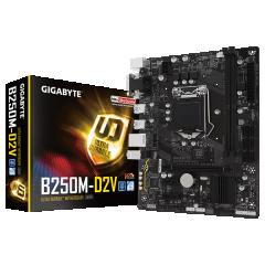 Gigabyte M-ATX Motherboard GA-B250M-D2V LGA1151 (B250, DDR4, SATA3, USB3)