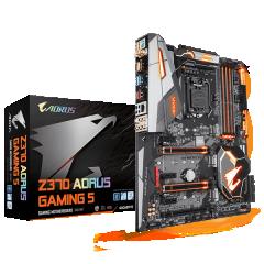 Gigabyte ATX Motherboard GA-Z370-Aorus Gaming 5 LGA1151 (Z370, DDR4, SATA3, USB3)