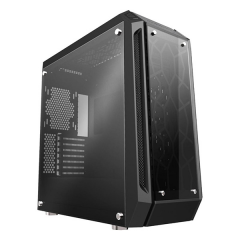 Venom-RX God Of War Tempered Glass Mid Tower PC Gaming Case - No PSU (Black)
