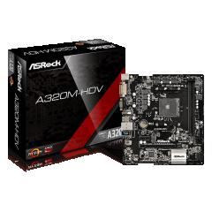 Asrock M-ATX Motherboard A320M-HDV AM4 (DDR4, SATA3, USB3)