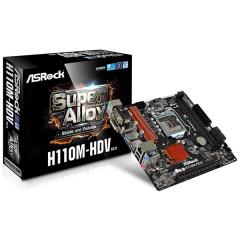 Asrock M-ATX Motherboard H110M-HDV R3.0 LGA1151 (DDR4, SATA3, USB3)
