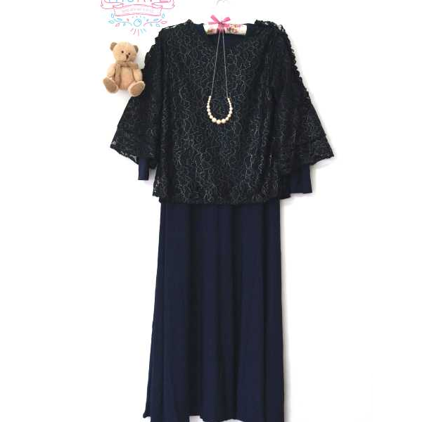 Dress Set Vania Navy All Size
