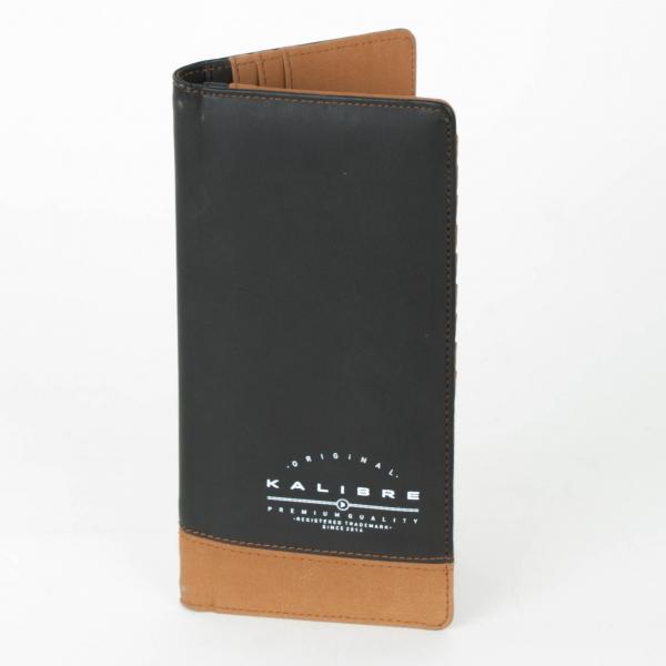 Kalibre 995396220 Dompet Panjang Kulit Hitam Coklat Long Wallet