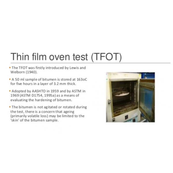 LOSS ON HEATING / THIN-FILM TEST
