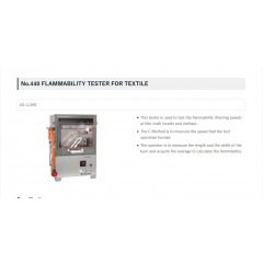 FLAMMABILITY TESTER FOR TEXTILE