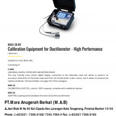 CALIBRATION EQUIPMENT FOR DUCTILOMETER - HIGH PERFORMANCE