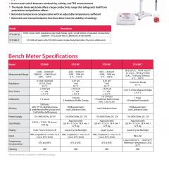 Water Analysis Starter 3100C Conductivity Bench