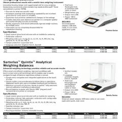 Sartorius Quintix Analytical Weighing Balances