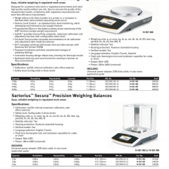 Sartorius Secura Precision Weighing Balances