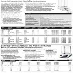 Sartorius Entris Analytical and Precision Balance