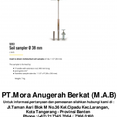 SOIL SAMPLER Ø 38 MM