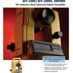 TOPCON DT-200/DT-200L Series Digital Theodolite
