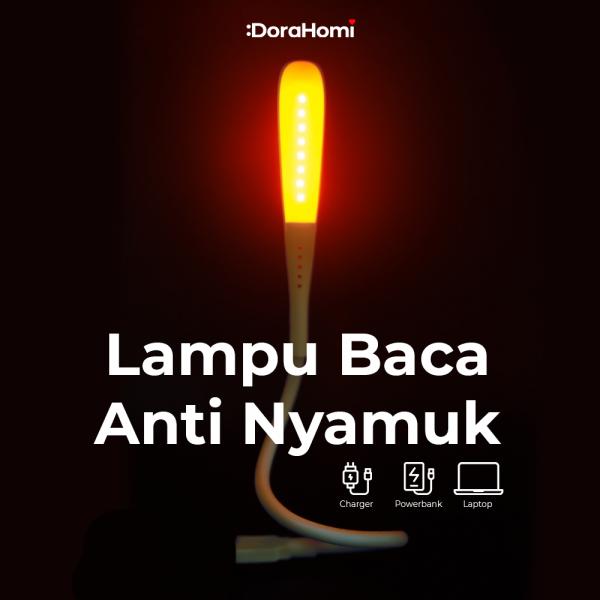 MILEE Lampu Tidur LED Fleksibel Anti Nyamuk dan Serangga Portable Meja USB 0.8 Watt BERGARANSI!