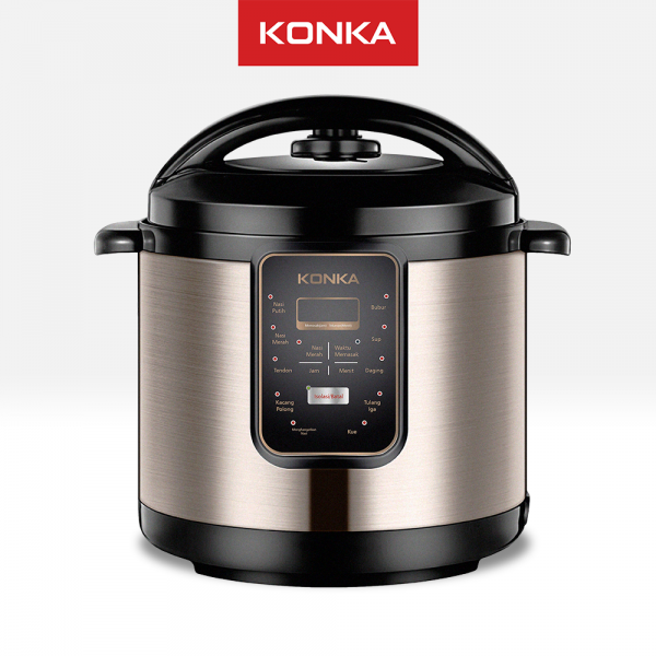 Presto Listrik KONKA Serbaguna Elektrik Pressure Cooker Electric Digital Multi Cooker Rice Cooker 5L