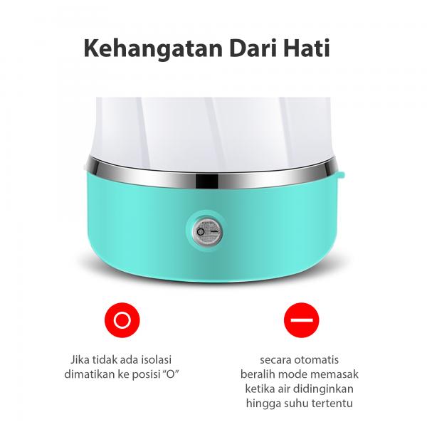 KONKA Teko Ketel listrik lipat portable pemanas air kopi 500 ml2