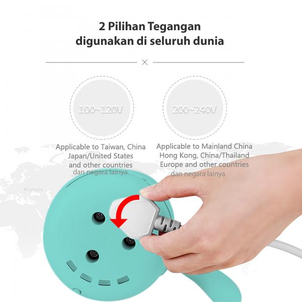 KONKA Teko Ketel listrik lipat portable pemanas air kopi 500 ml3