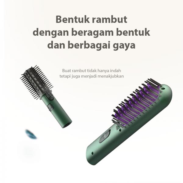 KONKA Electric Comb, Penata Rambut Portable 3 in 1, set sisir elektrik, catokan pengeriting rambut2