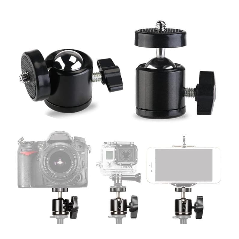 Mini Ball Head for Tripod Kamera DSLR 1/4