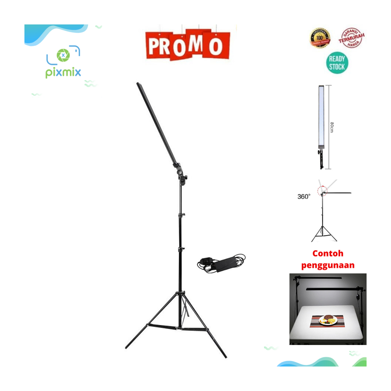 Lampu Studio Foto Profesional LED Light Stick - Saber Lamp + Stand