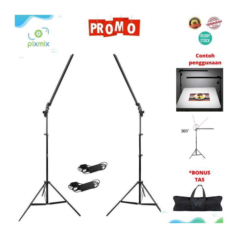 Lampu Studio Foto Profesional LED Light Stick-Saber Lamp Paket Komplit