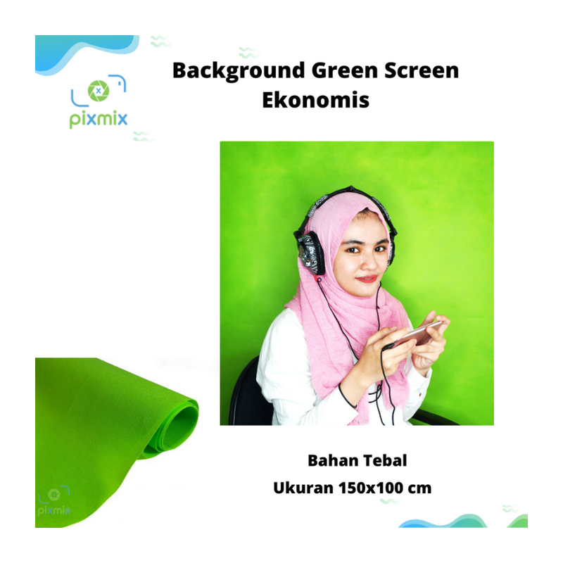 Green Screen Murah untuk Background Foto dan Video Non Woven