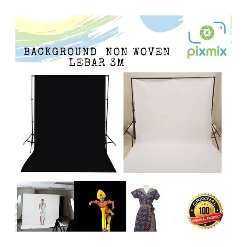 Background Foto Polos Lebar 3M Bahan Non woven