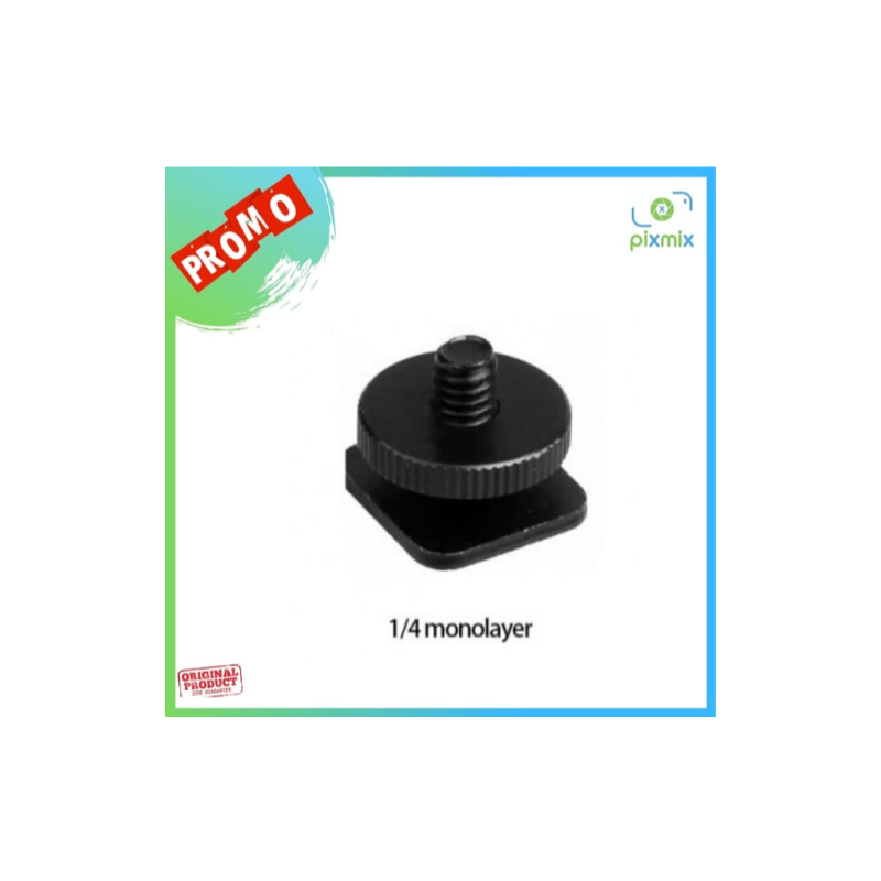 Tripod Screw Hot Shoe Kamera DSLR 1/4 Thread