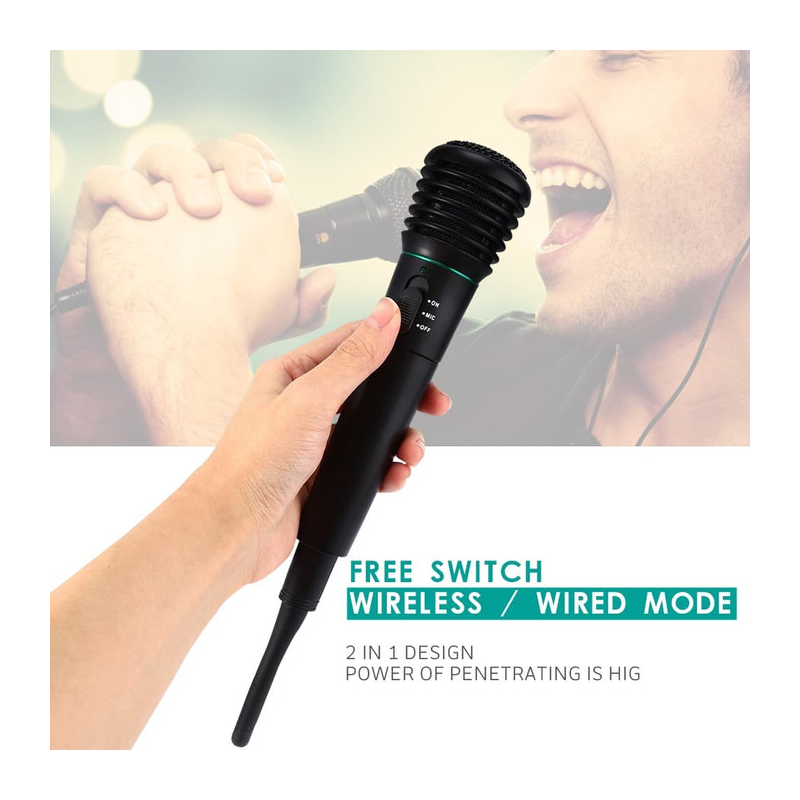 Microphone Profesional 2 in 1 Wireless Wired