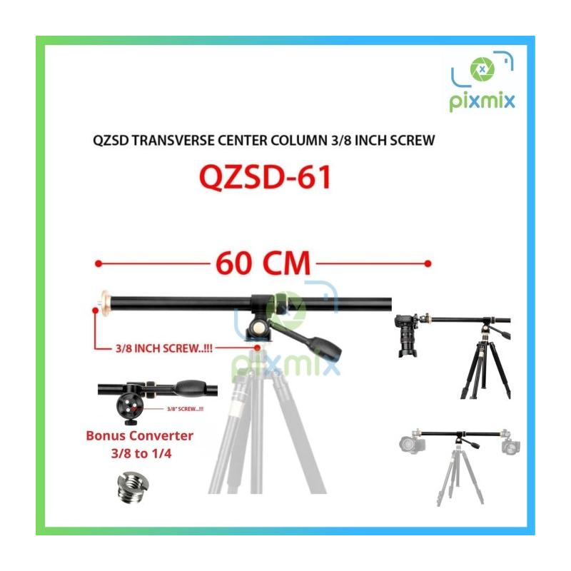 Transverse Center Column - Flat Lay Tripod - Foto Produk QZSD Q61