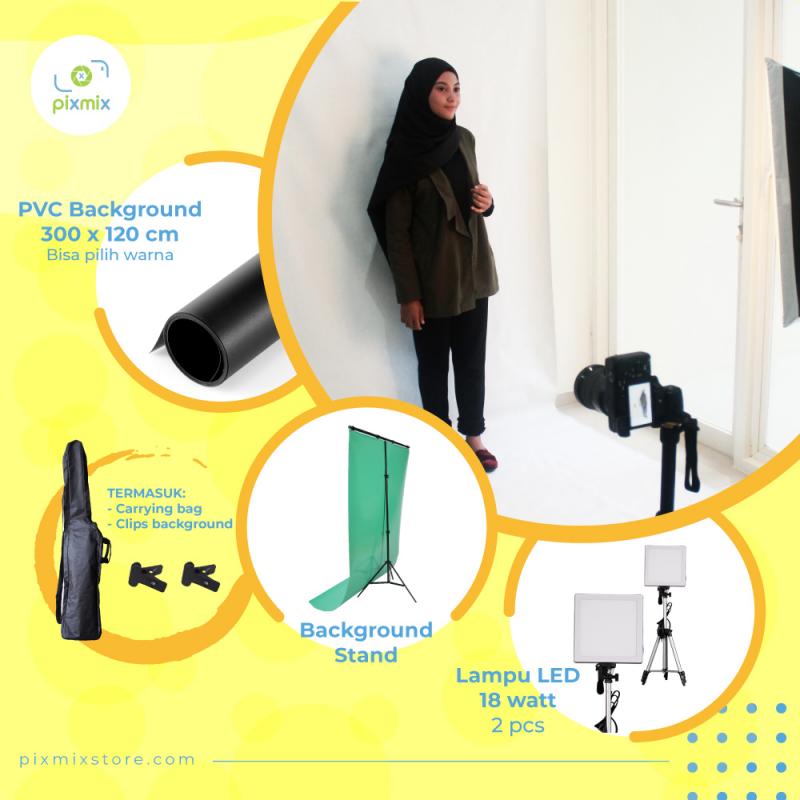 Paket Komplit 3M | Stand + Lampu 18Watt