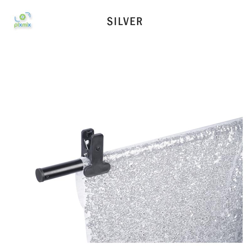 Glitter Silver 100 x 150 cm