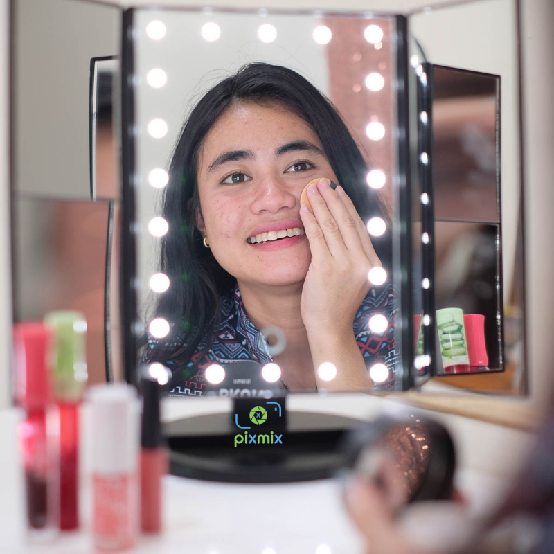 Kaca Rias LED | LED Mirror model Trifold | Cermin MakeUp