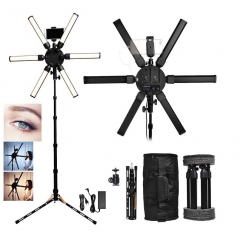 Lampu Make Up Profesional LED Star light Pro 6 tubes Portable series - Paket dengan Stand